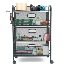 Mind Reader 4 Drawer Mesh Rolling
