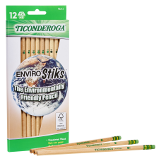 Ticonderoga EnviroStik Pencils Presharpened 2 Lead