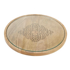Mind Reader Bamboo Round Cheese Serving