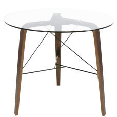 Lumisource Trilogy Contemporary Dining Table Round