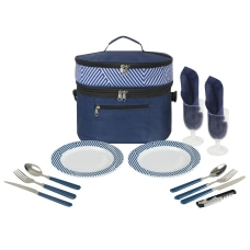 GNBI Picnic Set For Two NavyWhiteBlack