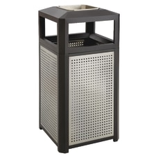 Safco Evos Steel Waste Receptacle With