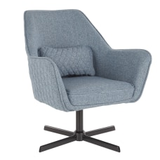 LumiSource Diana Contemporary Lounge Chair Blue