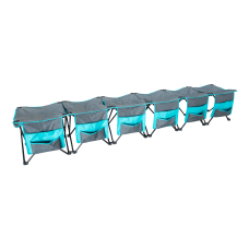 Creative Outdoor 6 Person Curved Bench