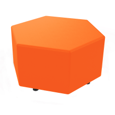 Marco Hexagon Seating Ottoman Papaya