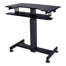 Lorell 40 Mobile Standing Desk Black