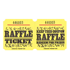 Amscan Raffle Ticket Roll Yellow Roll