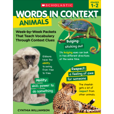 Scholastic Words In Context Animals Grades