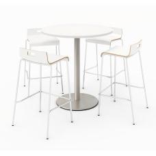 KFI Studios Round Bistro Pedestal Table