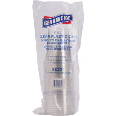 Genuine Joe Clear Plastic Cups 12