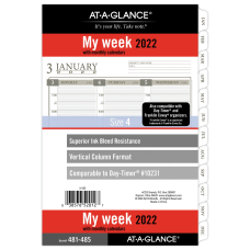AT A GLANCE Column Style WeeklyMonthly