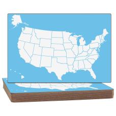 Flipside US Map Unframed Dry Erase