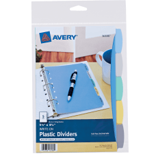 Avery Write Erase Plastic Dividers 5