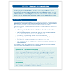 ComplyRight COVID 19 Safety And Wellness