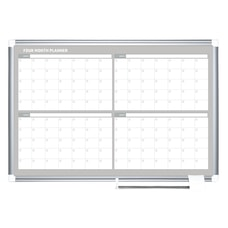 MasterVision Dry Erase Calendar Whiteboard With