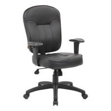 Boss Office Products Leather Mid Back
