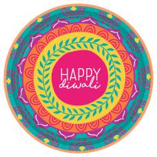 Amscan Diwali Round Paper Plates 7