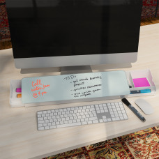U Brands Glass Dry Erase Desktop
