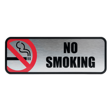 Cosco Brushed Metal No Smoking Sign