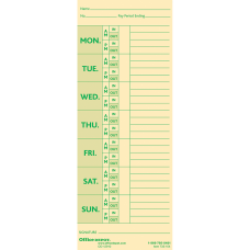 Office Depot Brand Time Cards With