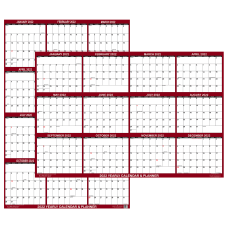 SwiftGlimpse 2 Sided Yearly Erasable Wall