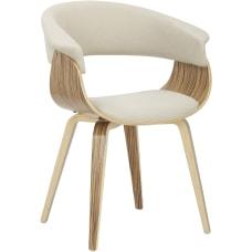 LumiSource Vintage Mod Chair CreamZebra