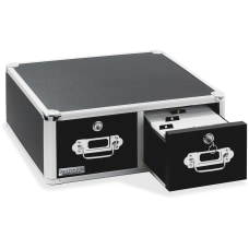 Vaultz Locking Index Card Cabinet For