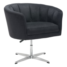 Zuo Modern Wilshire Occasional Chair BlackChrome