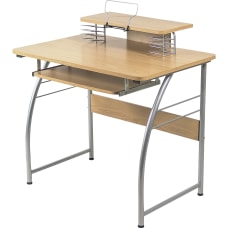 Lorell Multi Function Computer Desk Maple