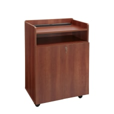 Safco Executive Mobile Presentation Stand Cherry