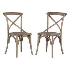 Linon Gwen Dining Chairs Rustic Gray