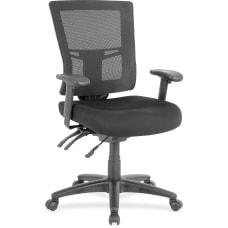 Lorell Multifunction Mid Back Chair MeshFabric