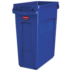 Rubbermaid Slim Jim Rectangular Polyethylene Vented