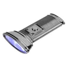 Kikkerland Design Flat Flashlight Silver