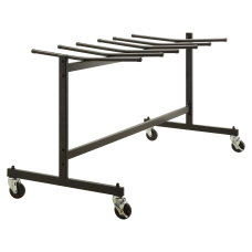 Lorell Folding Chair Trolley Black