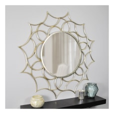 FirsTime Co Channing Round Mirror Gold