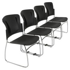 Balt ReFlex Stacking Chair Black Set