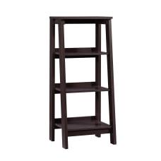 Sauder Trestle Bookcase 3 Shelves Jamocha