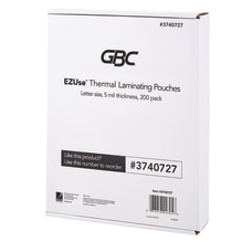 GBC EZUse Thermal Laminating Pouches 5