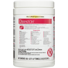 Dispatch Hospital Cleaner Towels with Bleach