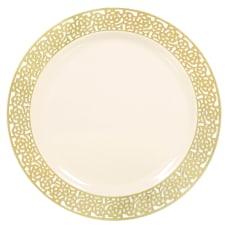 Amscan Premium Plastic Plates With Lace