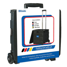 BAZIC Products Folding Cart On Wheels