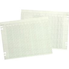Wilson Jones Columnar Ruled Sheets 9
