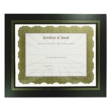 NuDell Flat Leatherette Document Frames Holds