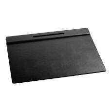 Rolodex Wood Tones Desk Pad Black