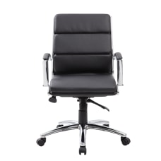 Boss CaressoftPlus Mid Back Chair Black