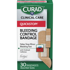 Curad Assorted QuickStop Bandages 30Box White
