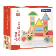 Guidecraft Jr Rainbow Blocks 20 piece