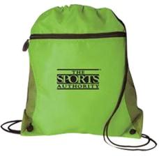 Mesh Pocket Drawcord Bag 14 W