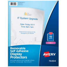 Avery Display Protectors Economy Weight Pack